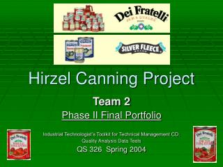 Hirzel Canning Project