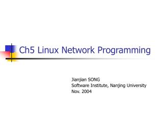 Ch5 Linux Network Programming