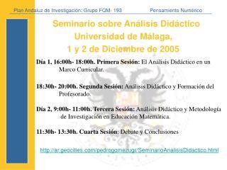 Plan Andaluz de Investigaci ón:  Grupo FQM- 193Pensamiento Num érico