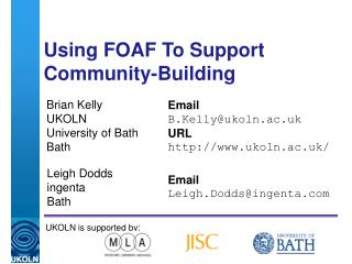 Using FOAF To Support Community-Building