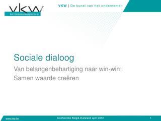 Sociale dialoog