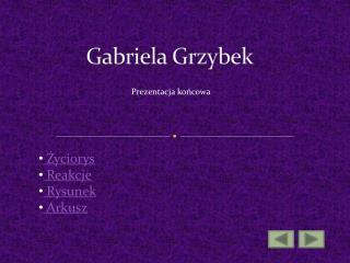 Gabriela Grzybek