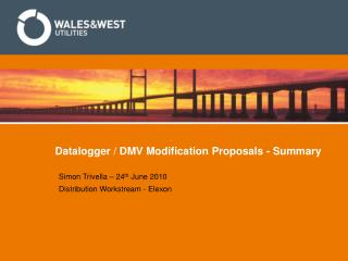 Datalogger / DMV Modification Proposals - Summary