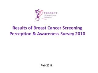 Results of Breast Cancer Screening Perception & Awareness Survey 2010