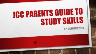 JCC Parents Guide to study skills