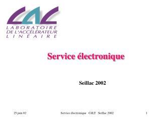 Service électronique