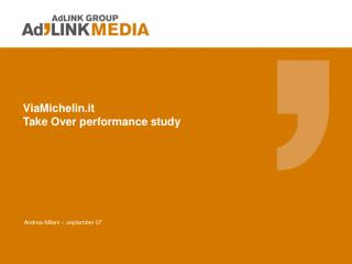 ViaMichelin.it Take Over performance study