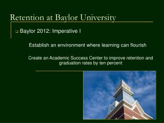 Retention at Baylor University