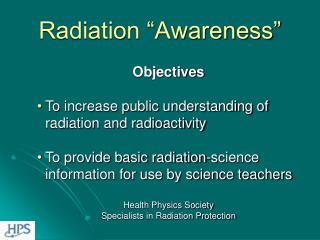 Radiation �Awareness�