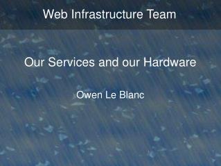 Web Infrastructure Team