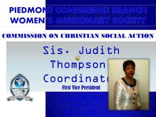Piedmont Conference Branch WOMEN'S MISSIONARY SOCIETY