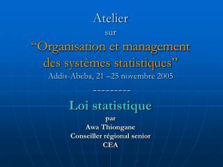 Loi statistique