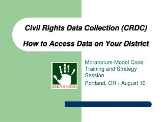 Civil Rights Data Collection (CRDC)  How to Access Data on Your District