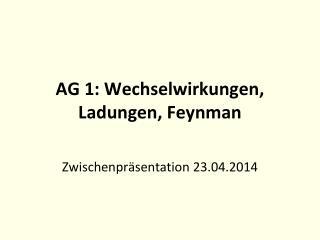 AG 1: Wechselwirkungen, Ladungen, Feynman