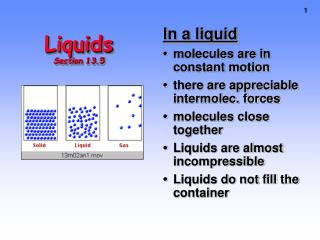 Liquids Section 13.5
