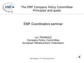 The EMF Company Policy Committee Principles and goals