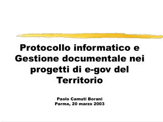 Protocollo, interoperabilità e gestione documentale