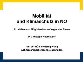 Mobilität  und Klimaschutz in NÖ