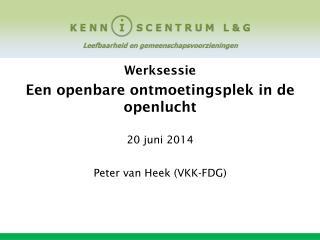 Werksessie  Een openbare ontmoetingsplek in de openlucht 20 juni 2014 Peter van Heek (VKK-FDG)