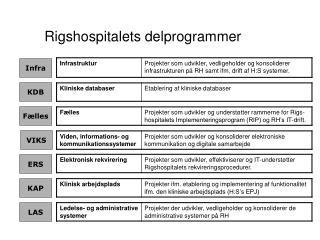 Rigshospitalets delprogrammer