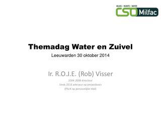 Themadag Water en Zuivel Leeuwarden 30 oktober 2014