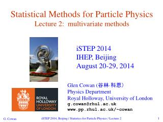 Statistical Methods for Particle Physics Lecture 2:  multivariate methods