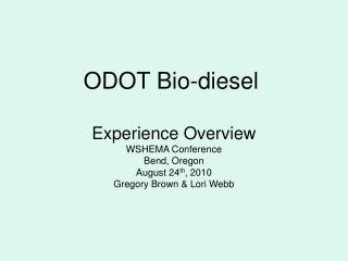 ODOT Bio-diesel