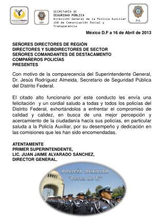 """POLICÍA AUXILIAR """"Cerca de Ti"""""""