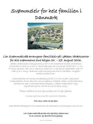 Svømmeleir for hele familien i Danmark