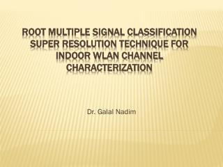 Dr. Galal Nadim