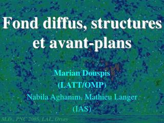 Fond diffus, structures  et avant-plans