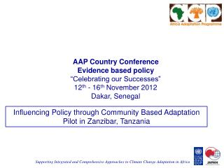 "AAP Country Conference  Evidence based policy ""Celebrating our Successes"""