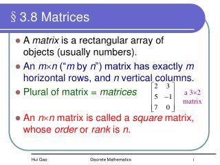 §3.8 Matrices
