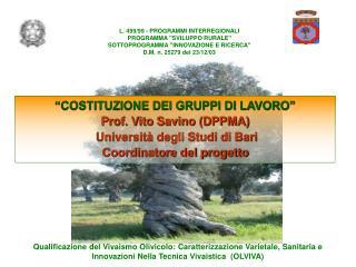 L. 499/99 - PROGRAMMI INTERREGIONALI PROGRAMMA