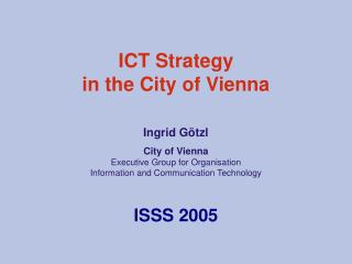 ICT Strategy  in the City of Vienna