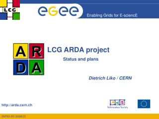 LCG ARDA project Status and plans
