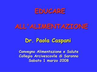 EDUCARE  ALL'ALIMENTAZIONE
