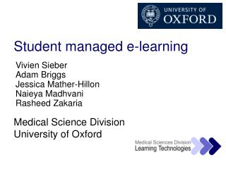 Student managed e-learning