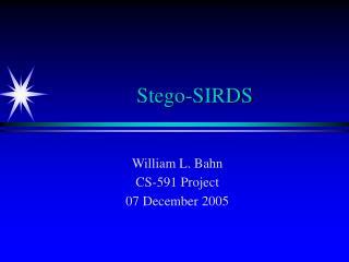 Stego-SIRDS