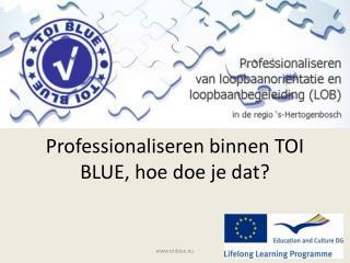 Professionaliseren binnen TOI BLUE, hoe doe je dat?