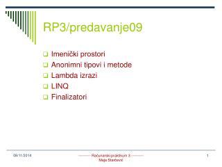 RP3/predavanje09