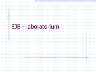 EJB - laboratorium