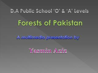 Forests of Pakistan