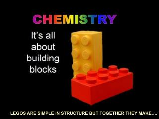 LEGOS ARE SIMPLE IN STRUCTURE BUT TOGETHER THEY MAKE….