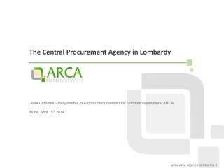 The  Central  Procurement  Agency in  Lombardy