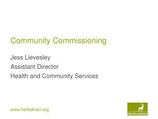Community Commissioning
