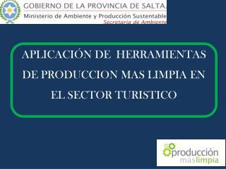 APLICACIÓN DE  HERRAMIENTAS DE PRODUCCION MAS LIMPIA EN EL SECTOR TURISTICO