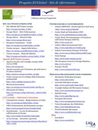 Siti  sull'Unione europea (UE) Sito ufficiale dell'Unione europea europa.eu/index_it.htm