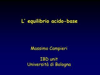 L' equilibrio acido-base