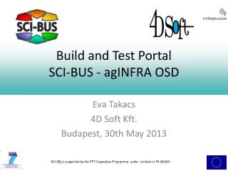 Build and Test Portal SCI-BUS - agINFRA OSD